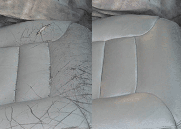 Before & After leather restoration in Port Macquarie